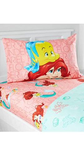Disney Princess Little Mermaid Ariel Microfiber Full Sheet Set