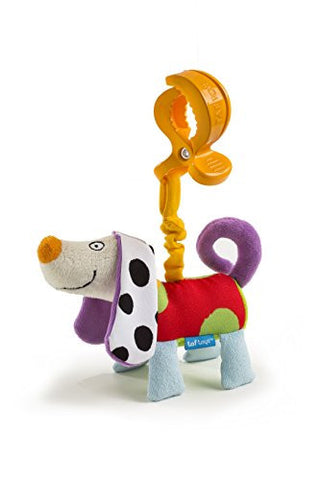 Taf Toys Busy Dog, Clip on Baby Toy that Jitters Happily with Rattling Sound