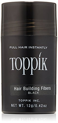 TOPPIK Hair Building Fibers, Black, 0.42 oz.