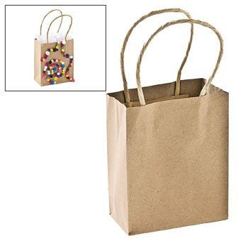 Small Craft Gift Bags - Party Favor & Goody Bags & Paper Goody Bags & Boxes
