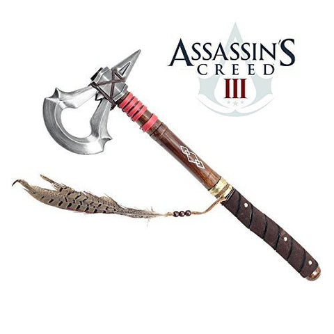 17.5 Battle Axe of Assassin's Creed 3 Video Game Tomahawk Connor's Heavy Axe