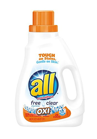 all Oxi Liquid Laundry Detergent, Free Clear, 46.5 Ounce, 26 Loads