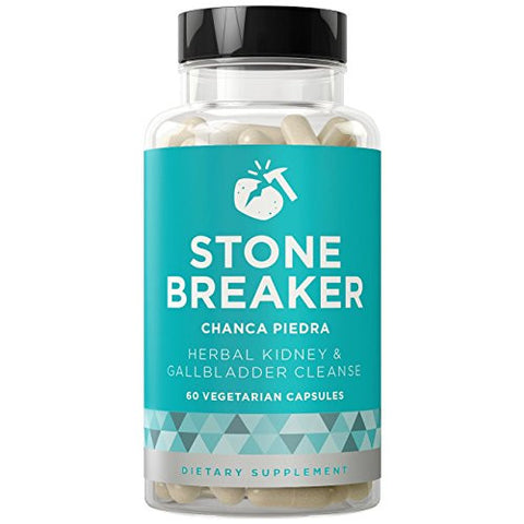 STONE BREAKER Chanca Piedra - Dissolver Cleanse to Fight Kidney & Gallbladder Pain - Hydrangea & Celery Seed - 60 Vegetarian Soft Capsules