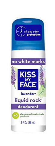 Kiss My Face Liquid Rock Aluminum Chlorohydrate Free Roll-on Deodorant, Lavender, 3 Ounce