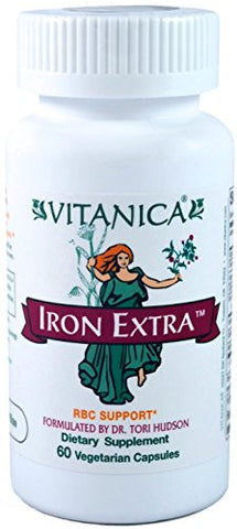 Vitanica - Iron Extra - Enhanced Iron Absorption - 60 Vegetarian Capsules