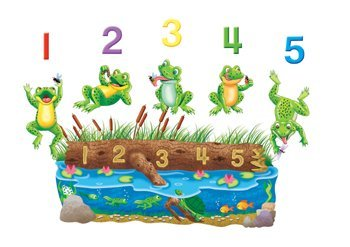 Little Folk Visuals LFF-703 Five Speckled Frogs Felt Figures For Flannel board Stories