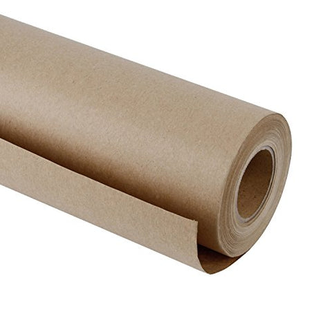 RUSPEPA Natural/Brown Kraft Paper Roll, 18 inch x 165 Feet, Perfect for Gift Wrapping