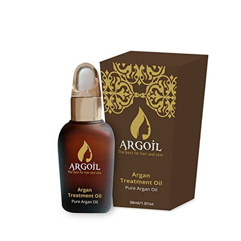 ARGOIL Pure Organic Oil for Hair, Skin and Face, 100% Pure and Natural, Treats and Rejuvenates Skin and Hair, Makes Them Even and Silky, From the kernels of the Morrocan Argan Tree, 1 oz.