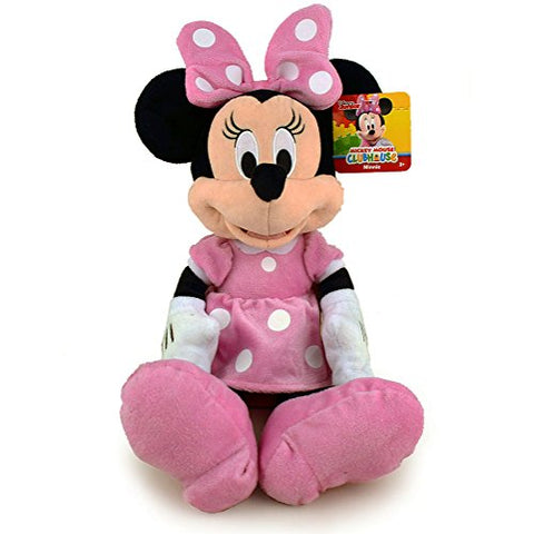 Disney Minnie Mouse Plush Doll Pink Dress - 15 Inch