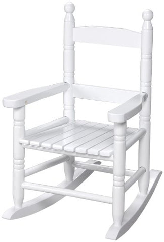 Gift Mark Child's Double Slat Back Rocking Chair, White