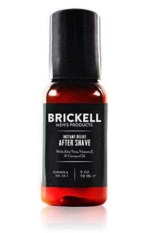 Brickell Men's Instant Relief Aftershave for Men – 2 oz – Natural & Organic