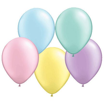 Qualatex 16  Assorted Light Pearlized Latex Balloons (10ct)