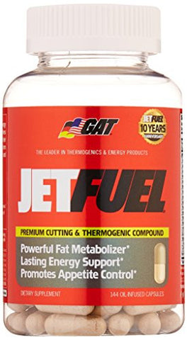 GAT Jetfuel Premium Cutting & Thermogenic Compound Dietary Supplements (Oil-Infused Capsules)