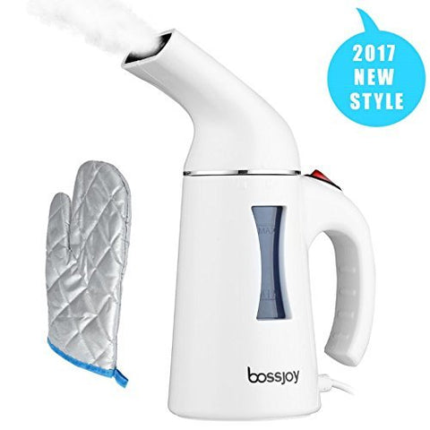 Clothes Steamer, Bossjoy 130ml Portable Handheld Fast heat Fabric Garment Travel Steamer for Home and Travel, Portable steam hanging ironing machine