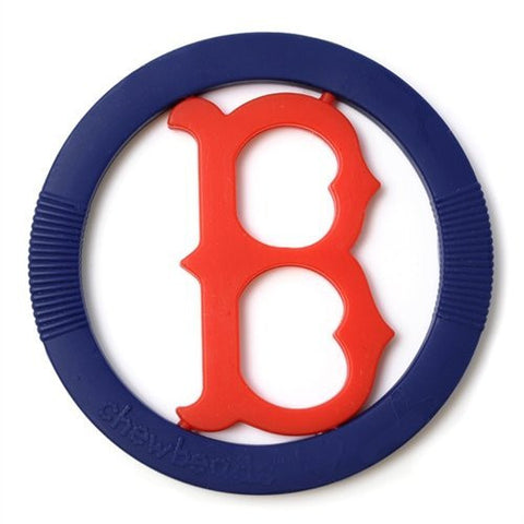 Chewbeads MLB Gameday Teether, 100% Safe Silicone - Boston Red Sox