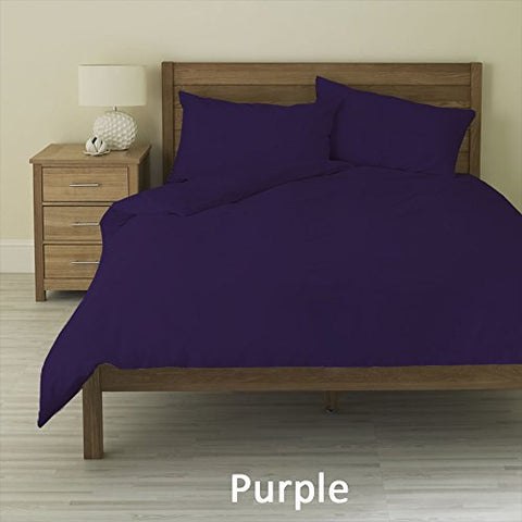 3 PC Duvet Set  Purple  Color 1000 TC Egyptian Cotton All Sizes Solid (Queen/Full)