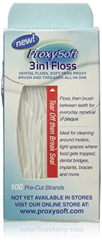 BEST Floss for Braces, Bridges and Implants, Flossing Aids, Threaders for Dental Floss - Thornton 3-in-1 Floss Threaders (100 strands)