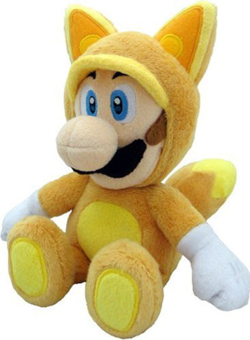 Little Buddy Official Super Mario Plush Kitsune Fox Luigi, 9-Inch