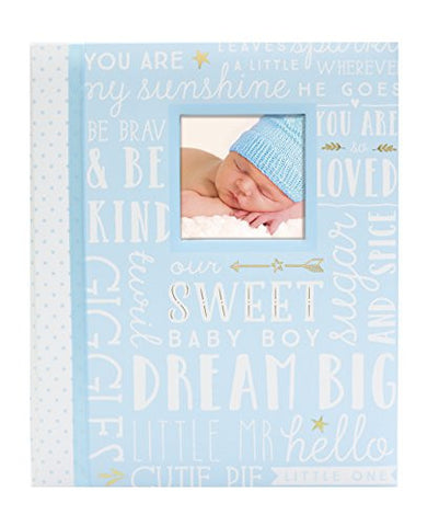Lil' Peach Dream Big Wordplay Baby Memory Book, Blue