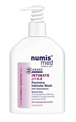 Intimate Hygiene Cleanser Imported From Germany pH 4.2 Dermatologist Tested 5 Star Guarantee Soap Free Paraben Free Vegan Clinically Tested For Extremely Sensitive Skin 200 ml by Numis Med Sensitive