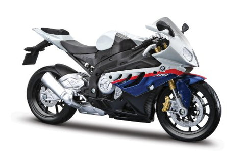 BMW S1000RR White/Red/Blue Motorcycle 1/12 by Maisto 31191