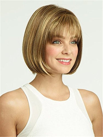 5I Short Straight Hair Bob Wigs Heat Resistant Wig for Women Natural As Real Hair with Wig Cap Z012