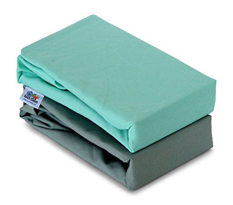 Rench Babies 2-Piece Changing Pad Cover Sheets in Nuetral Colors