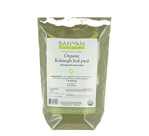 Banyan Botanicals Kalmegh Powder - Certified Organic, 1 Pound - Andrographis paniculata - Supports proper function of the liver and the immune system*