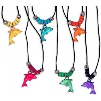 Fun Express Acrylic Dolphin Necklace with Jewel Eyes (12)