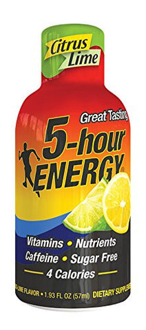 5 Hour Energy Drink Shot, Citrus Lime, 6 Count