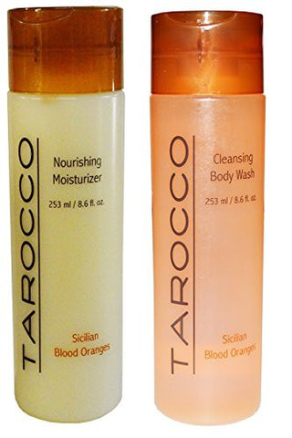 Tarocco Sicilian Red Orange Extracts Nourishing Moisturizer + Cleansing Body Wash Set