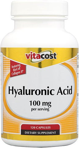 Vitacost Hyaluronic Acid with BioCell Collagen II -- 100 mg per serving - 120 Capsules