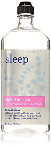 Bath & Body Sleep Night Time Tea Body Wash & Foam Bath 10 Oz