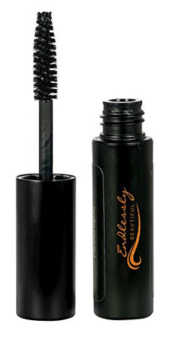 Natural Organic Mascara by Endlessly Beautiful, Black - Vegan & Gluten Free - Nourishes and Conditions Eyelashes - Enriched with Chamomile & Vitamin E
