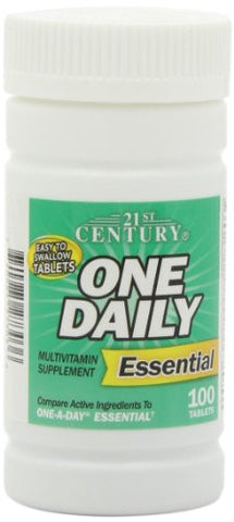 21st Century One Daily Essential Tablets, 100 Count