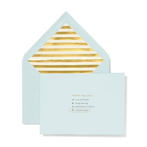 kate spade new york Bridal Note Card Set - All of the Above (Turqoise)