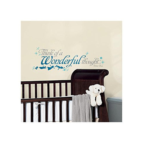 RoomMates RMK2428SCS Peter Pan Wonderful Thought Peel and Stick Wall Decals