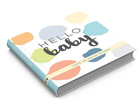 Sticky Bellies Modern Baby Memory Book (Aqua/Green/Grey/Blue)