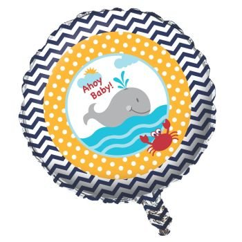 Ahoy Matey Baby Shower Foil Balloon
