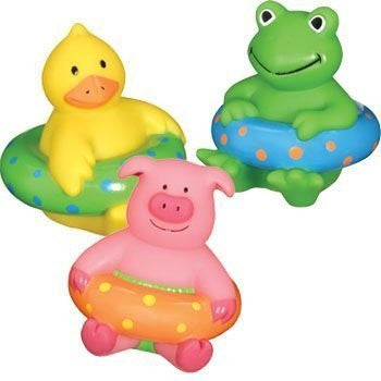 Squirting Bath Buddies - Set of 3 - Duck, Pig and Frog