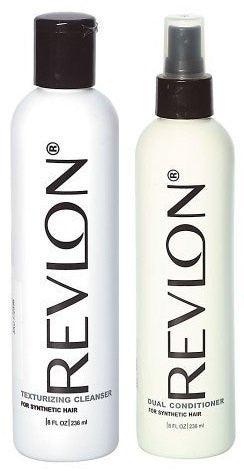 Revlon Texturizing Cleanser & Revitalizing Conditioner for Synthetic Hair & Wigs, 8oz,
