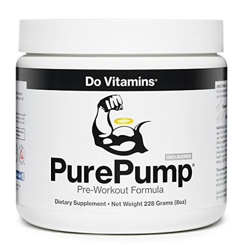 Do Vitamins - PurePump Natural Pre Workout Supplement for Men & Women, Cleanest Pre-Workout Powder Fitness Supplements Certified Paleo, Vegan, Non-GMO - No Artificial Sweeteners Colors or Flavors