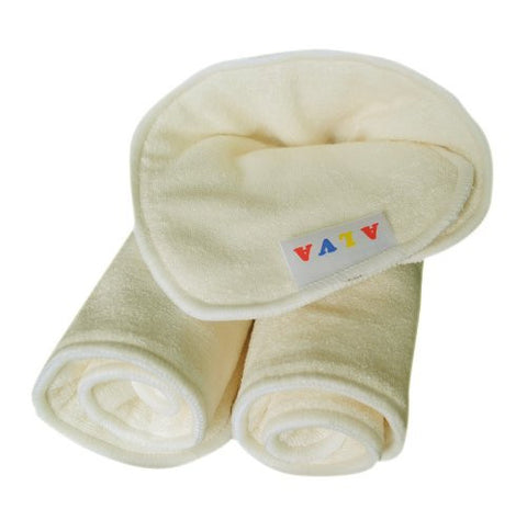 ALVABABY 4-Layers Antibacterial Bamboo Viscose Inserts Diaper liners Super Water Absorbent For Cloth Diapers 6PCS 6MB