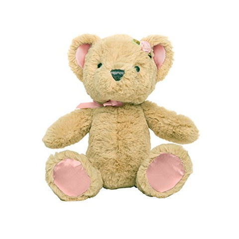 C.R. Gibson Heaven Sent 6 Plush Beanie Bear Rattle, By Baby Dumpling - Pink