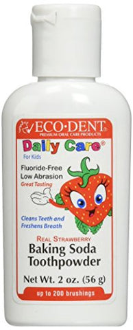 Eco-Dent Tooth Powder for Kids, Strawberry, 2 Ounce