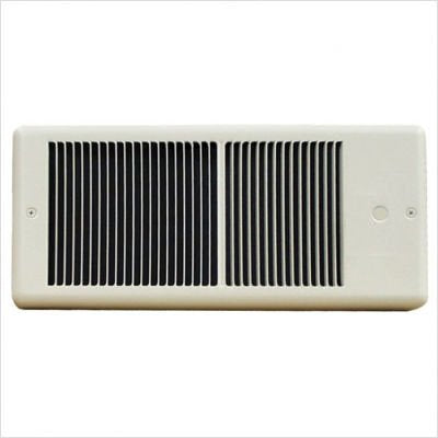 TPI HF4315RPW Series 4300 Low Profile Fan Forced Wall Heater without Thermostat, Standard, White, 1500/1125 W