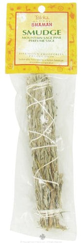 Mountain Sage, Pine, and Perfume Sage - Medium 6-Inch Smudge Stick - Global Shaman (Triloka)