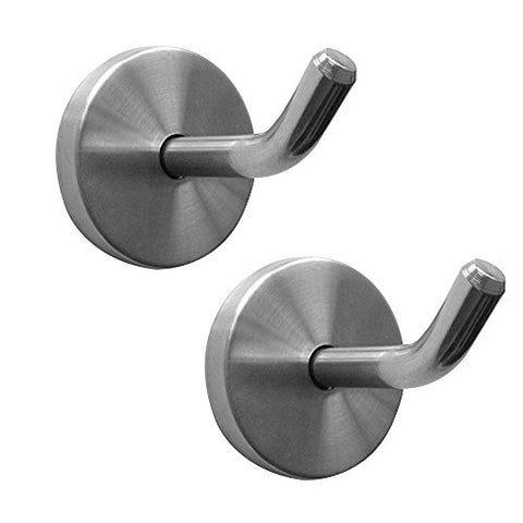 Shineme Stainless Steel Elephant Nose Hook Single Hanger Living room Bathroom Towel Kitchen Wall Hook Strong Heavy Duty Garage Storage Organizer Hook -2Size (small-2pcs)