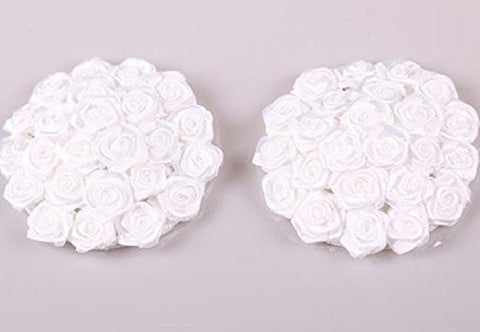 Women's Sexy White Rose Bouquet Pasties Round - Wedding/Anniversary/Valentine