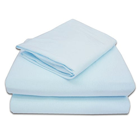 TL Care 100% Jersey Cotton 3-Piece Toddler Sheet Set, Blue